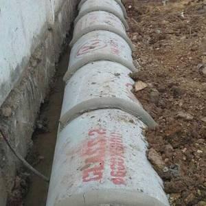 งานวางท่อระบายน้ำ